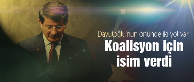Davutoğlu'ndan flaş koalisyon sözleri