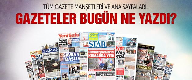Gazete manşetleri 3 Temmuz 2015