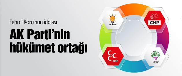 Fehmi Koru AK Parti'nin hükümet ortağını açıkladı