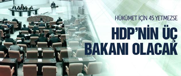 HDP'nin üç bakanlığı olacak!