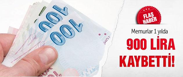 Memurlar 900 lira kaybetti