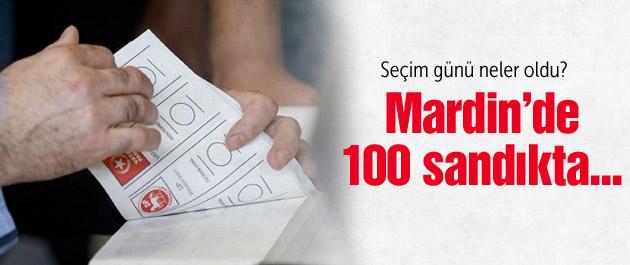 Mardin'de 100 sandıktan AK Parti'ye...