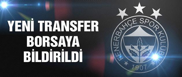 F.Bahçe yeni transferi borsaya bildirdi