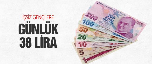 Gençler günlük 38 lira kazanacak