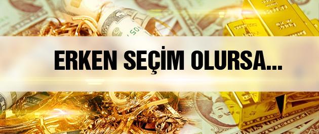 Dolar kuru ve altın fiyatları erken seçimde ne olur?