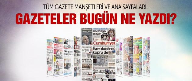 Gazete manşetleri 5 Temmuz 2015