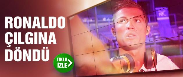 Ronaldo röportaj sırasında çıldırdı