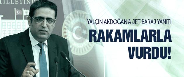 HDP'den Akdoğan'a jet baraj yanıtı!