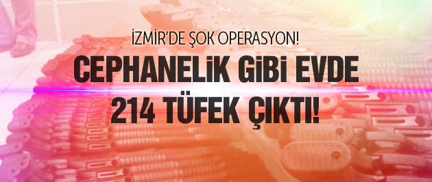 İzmir'de şok baskın! 214 tüfek yakalandı!