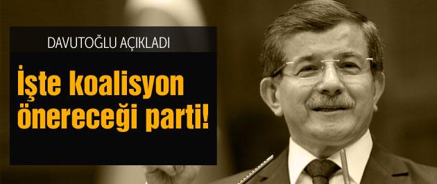 Davutoğlu'ndan son dakika koalisyon açıklaması