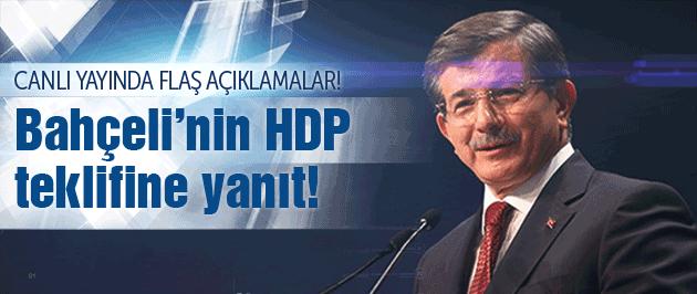 Davutoğlu, Bahçeli'nin HDP teklifi için ne dedi?