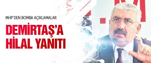 MHP'den Demirtaş'a flaş 'hilal' yanıtı!