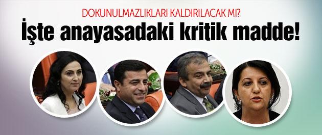 HDP'lilerin dokunulmazlığı kaldırılacak mı nasıl kaldırılır?