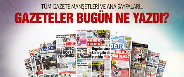 Gazete manşetleri 29 Temmuz 2015