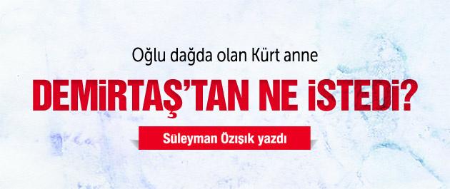 Kürt annenin Demirtaş'tan isteği