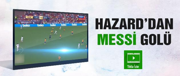 Eden Hazard'dan Messi golü