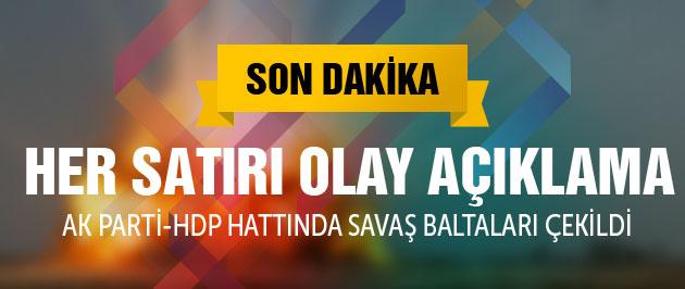 Yalçın Akdoğan'dan olay yaratacak HDP açıklamaları