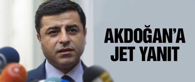 Demirtaş'tan Akdoğan'a 'Dolmabahçe mutabakatı' cevabı