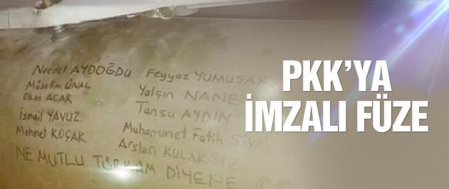 TSK'dan PKK'ya imzalı füze