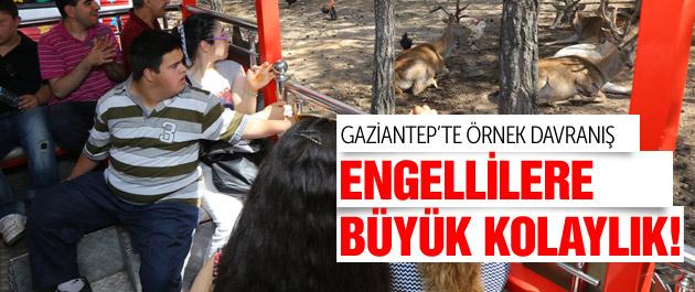 Gaziantep'te engelli vatandaşlara bir kolaylık daha!