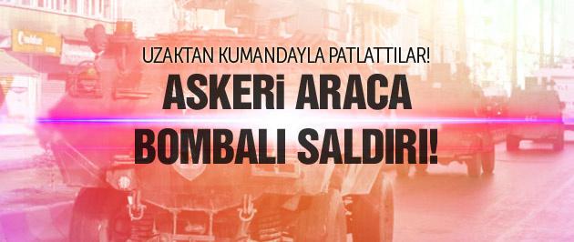 PKK'dan askeri araca bombalı saldırı!