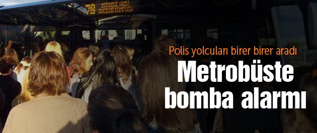 İstanbul Metrobüs'te canlı bomba alarmı