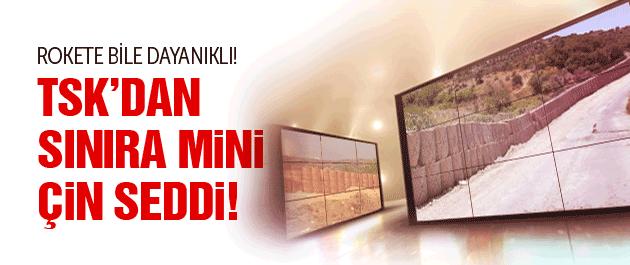 TSK'dan sınıra rokete dayanıklı duvar!