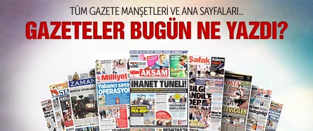 Gazete manşetleri 30 Temmuz 2015