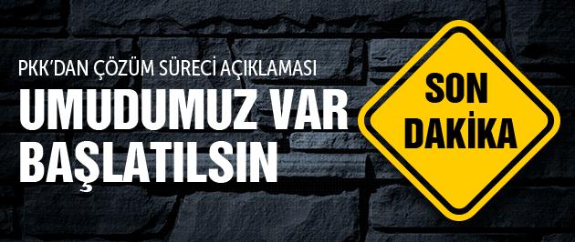 PKK'dan flaş çözüm süreci açıklaması