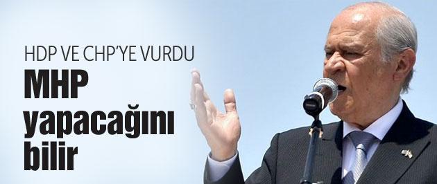 Devlet Bahçeli CHP'yi vurdu HDP'ye de...