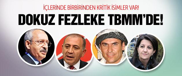 Kılıçdaroğlu ve 8 vekilin fezlekesi TBMM'de!