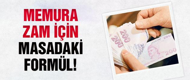 Memur maaşına zam için masadaki formül!