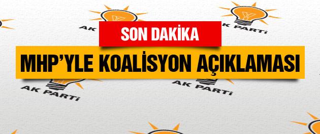 Beşir Atalay'dan MHP koalisyon ve çözüm süreci açıklaması