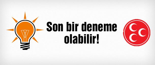 AK Parti'den MHP'yle koalisyon sinyali
