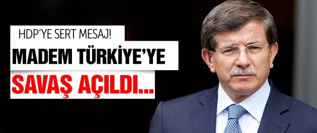 Davutoğlu'ndan HDP ve PKK'ya çok sert terör mesajı
