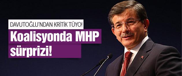 Davutoğlu'ndan MHP ve koalisyon sürprizi!