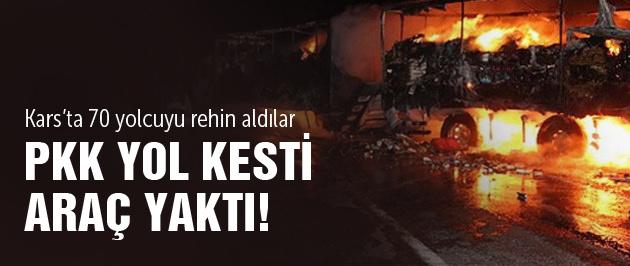 PKK bu kez Kağızman'da yol kesti!