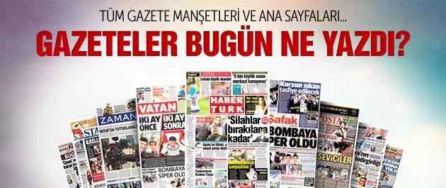 Gazete manşetleri 1 Ağustos 2015