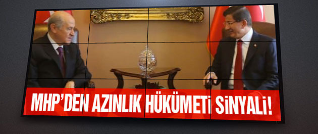 MHP'den AK Parti'ye azınlık hükümeti sinyali!
