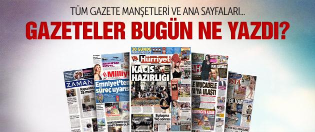 Gazete manşetleri 2 Ağustos 2015