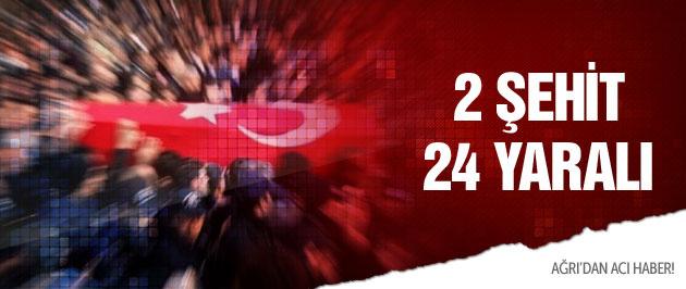 Ağrı'da PKK'dan intihar saldırısı 2 şehit