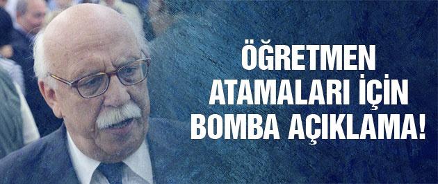 Nabi Avcı'dan öğretmen ataması için bomba açıklama!
