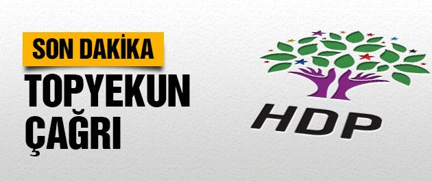 HDP'den flaş 'topyekun' çağrı
