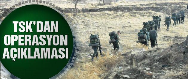 TSK'dan flaş PKK'ya operasyon açıklaması