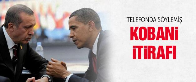 Erdoğan Obama'nın Kobani itirafını paylaştı