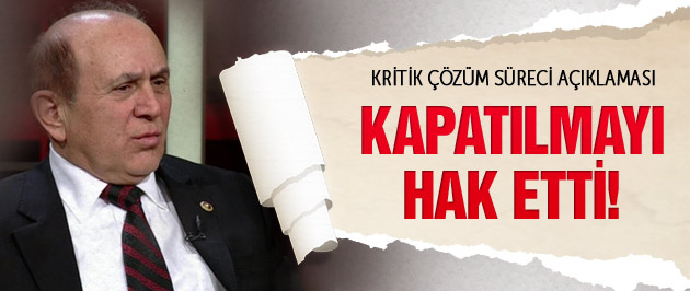 Burhan Kuzu'dan kritik HDP ve çözüm süreci açıklaması