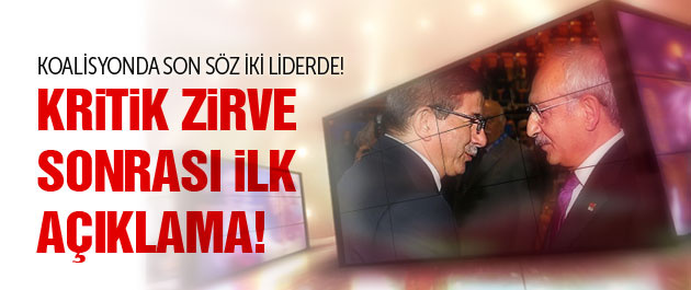 AK Parti ve CHP'den son koalisyon görüşmesi