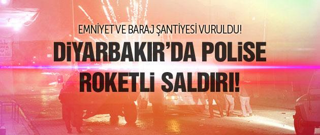 Diyarbakır'da polise roketli saldırı!