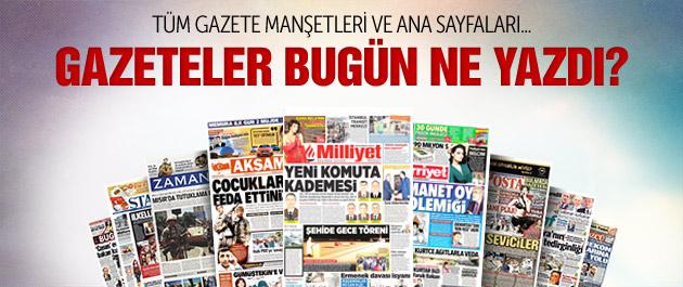 Gazete manşetleri 4 Ağustos 2015