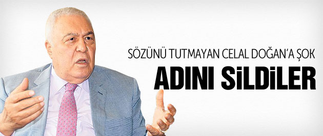 Gaziantep Belediyesi Celal Doğan ismini sildi!